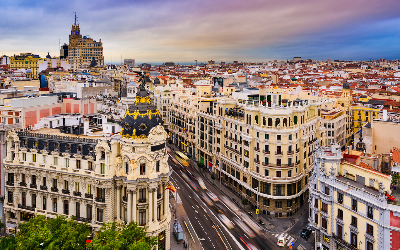 City scape of Madrid during the day