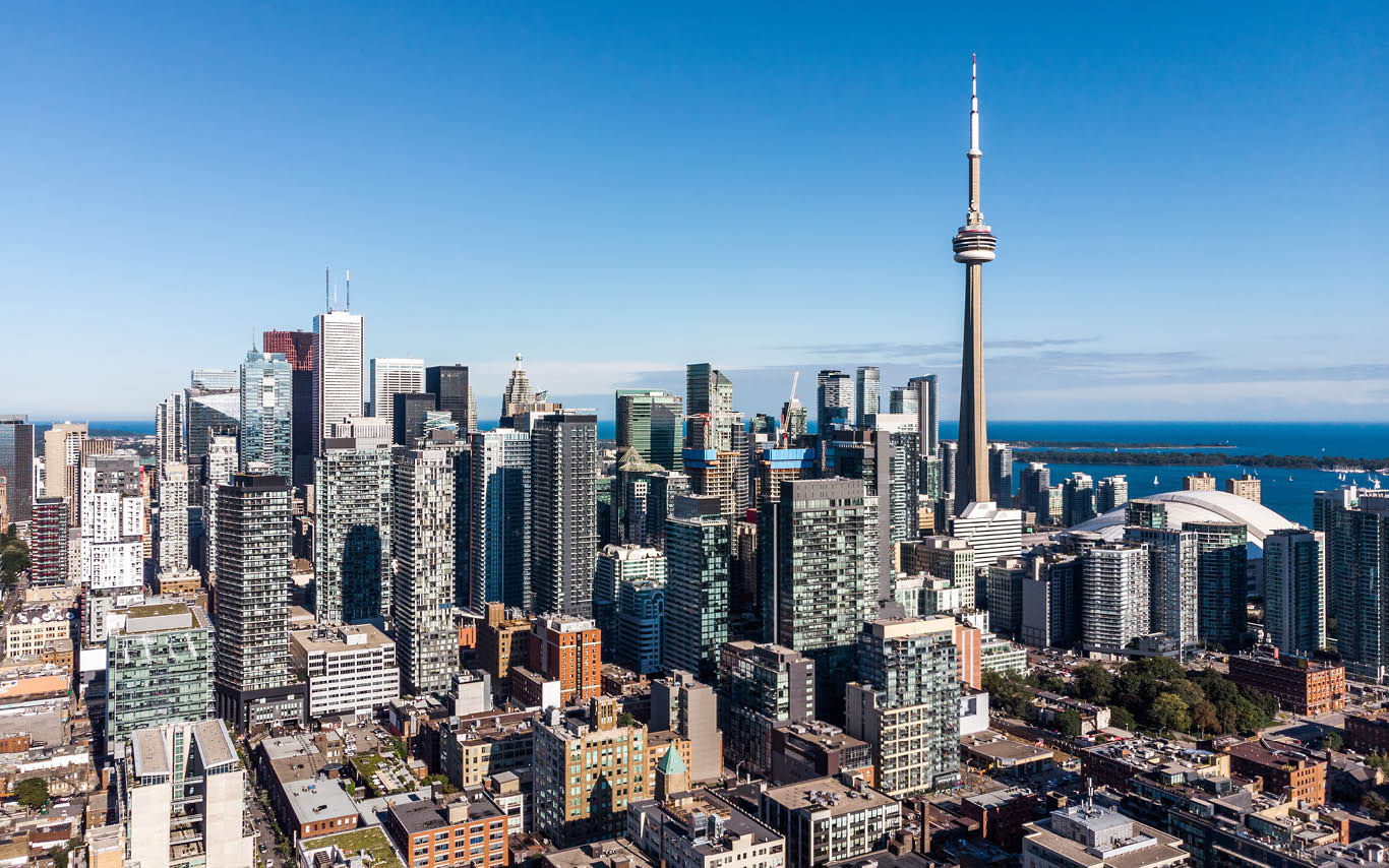 Image of Toronto city sky line with blue sky