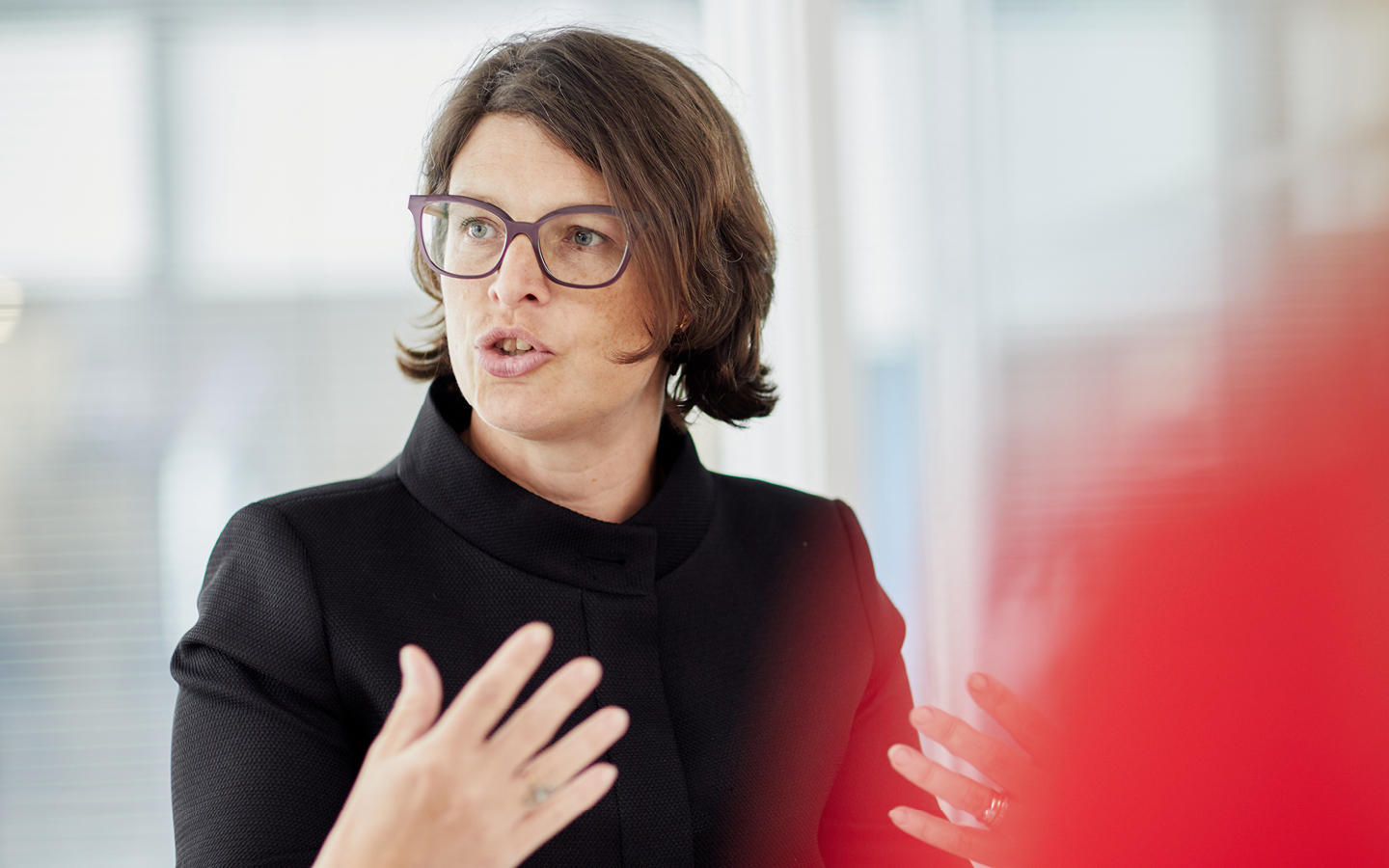Capital Markets practice image - woman talking