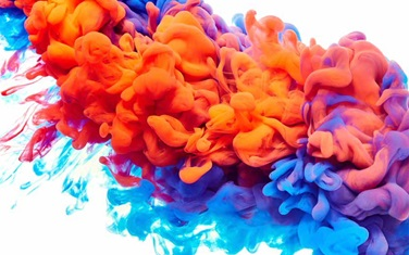 coloured smoke abstract image