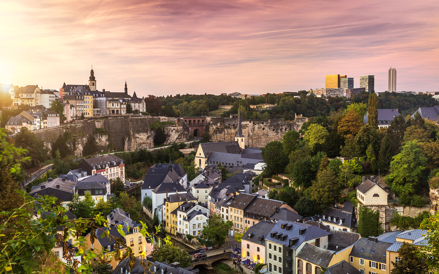 View of houses in Luxembourg