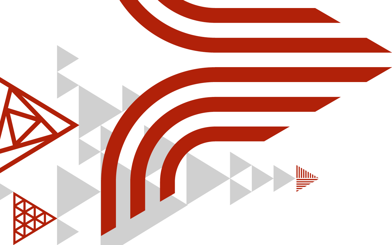 Abstract red and grey graphic