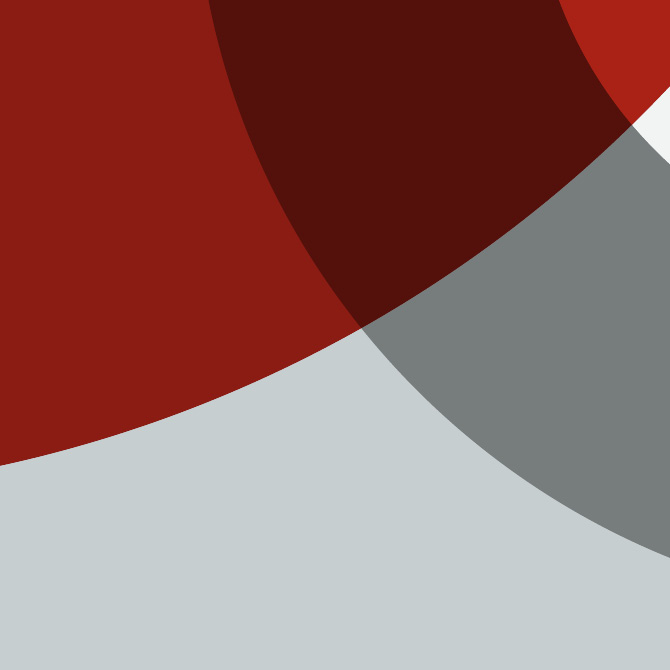Red, white and grey geometric shapes