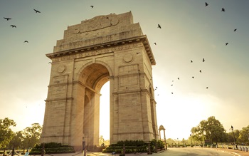 The India Gate war memorial in New Delhi
