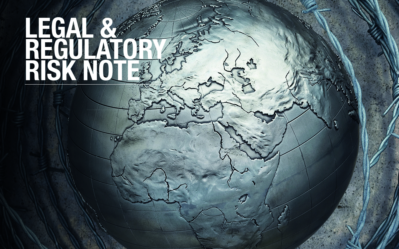 Legal and regulatory risk note