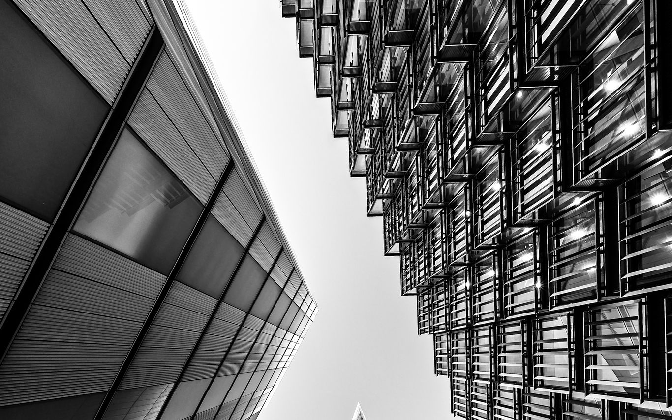 Artistic image of a modern building