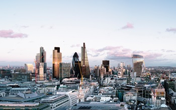 Panoramic view of London's skyline