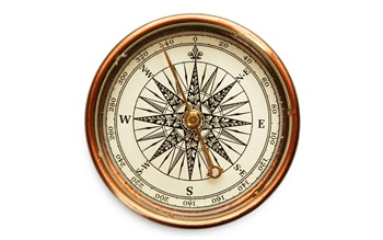 An antique compass