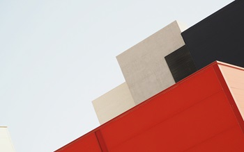 Red abstract building