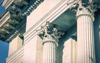 Columns outside court