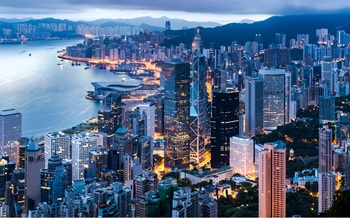 Landscape image of Hong Kong SAR at night